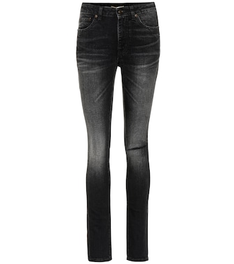 Saint Laurent - Distressed Jeans aus Stretch-Baumwolle - mytheresa.com