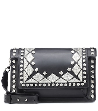 Isabel Marant - Maskia embellished leather shoulder bag - mytheresa.com