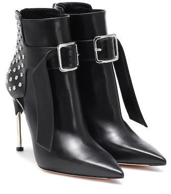 Alexander McQueen - Victorian leather ankle boots - mytheresa.com