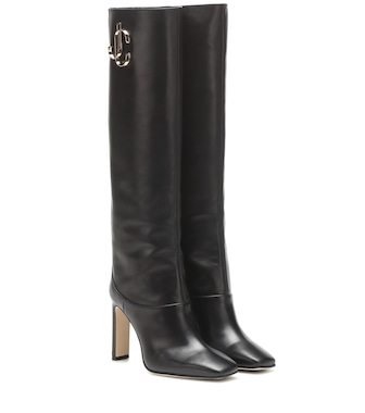 Jimmy Choo - Mahesa leather boots - mytheresa.com