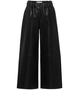 Loewe - High-rise cropped leather pants - mytheresa.com