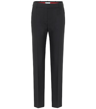 Valentino / Garavani - Valentino high-rise slim wool-blend pants - mytheresa.com
