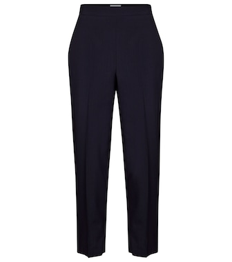 Salvatore Ferragamo - High-rise tapered wool pants - mytheresa.com
