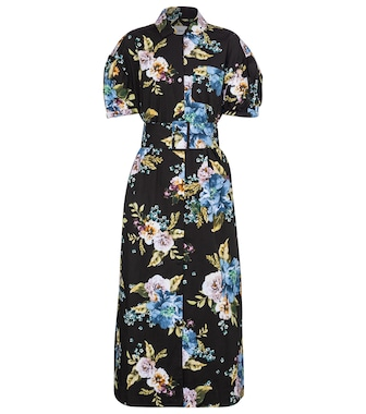 Erdem - Frederick floral cotton poplin midi dress - mytheresa.com