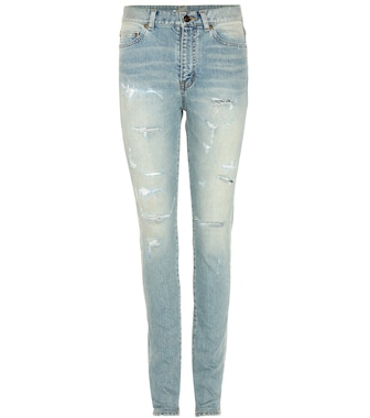 Saint Laurent - Distressed skinny jeans - mytheresa.com