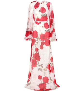 Giambattista Valli - Floral-printed silk dress - mytheresa.com