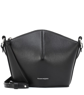 Alexander McQueen - Leather shoulder bag - mytheresa.com