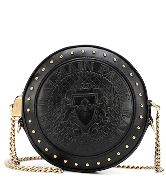 Balmain - Disco leather shoulder bag - mytheresa.com