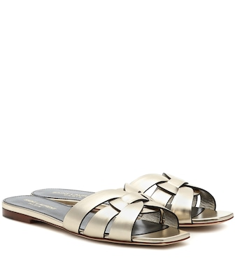 Saint Laurent - Tribute Nu Pieds 05 leather sandals - mytheresa.com