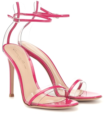Gianvito Rossi - G-string leather sandals - mytheresa.com