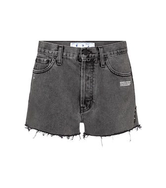 Off-White - High-Rise Jeansshorts - mytheresa.com