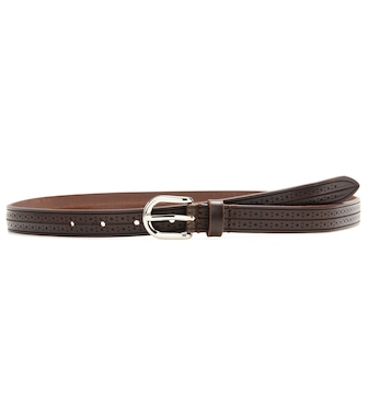 Isabel Marant - Kaylee embossed leather belt - mytheresa.com