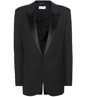 Saint Laurent - Wool and satin jacket - mytheresa.com