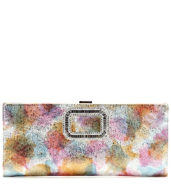 Roger Vivier - Pilgrim Small embellished leather clutch - mytheresa.com
