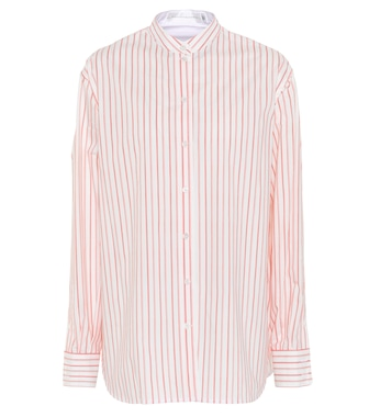 Victoria Beckham - Grandad striped cotton shirt - mytheresa.com