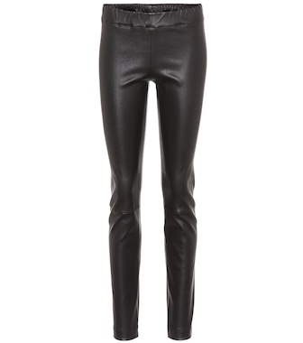 The Row - Moto leather leggings - mytheresa.com