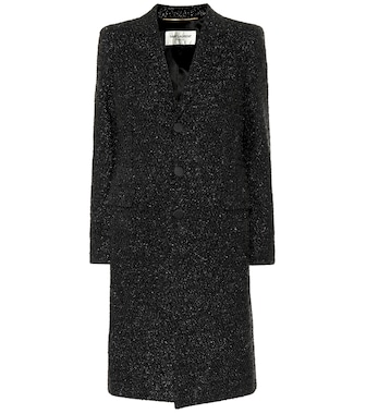 Saint Laurent - Embellished coat - mytheresa.com