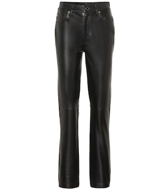 Khaite - Victoria leather pants - mytheresa.com