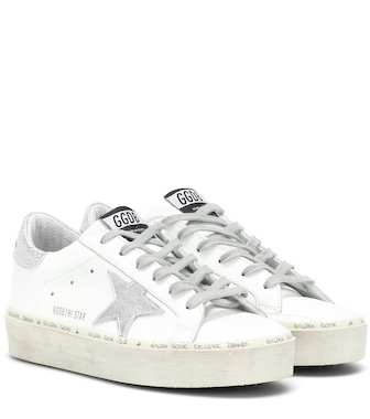Golden Goose Deluxe Brand - Hi Star leather sneakers - mytheresa.com