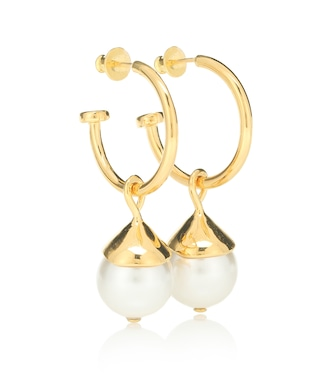 Sophie Buhai - Everyday Pearl 18kt gold-plated earrings - mytheresa.com