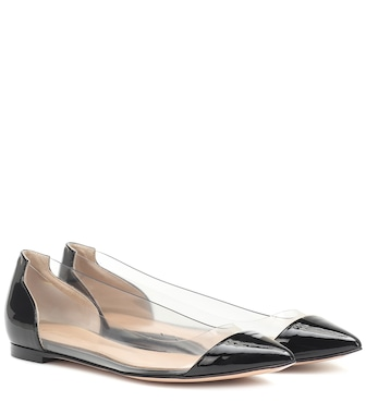 Gianvito Rossi - Plexi leather ballet flats - mytheresa.com