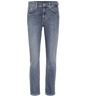 7 For All Mankind - Slim Illusion Relaxed Skinny high-rise jeans - mytheresa.com