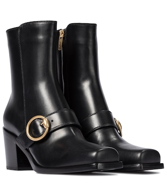 Gianvito Rossi - Wayne leather ankle boots - mytheresa.com