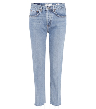 Re/Done - Stovepipe high-waisted jeans - mytheresa.com