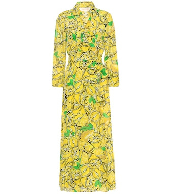 Diane von Furstenberg - Printed cotton and silk maxi dress - mytheresa.com