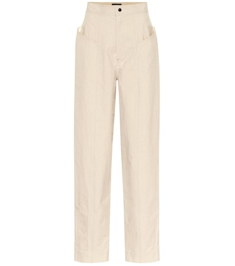 Isabel Marant - Ladjo high-rise cotton pants - mytheresa.com