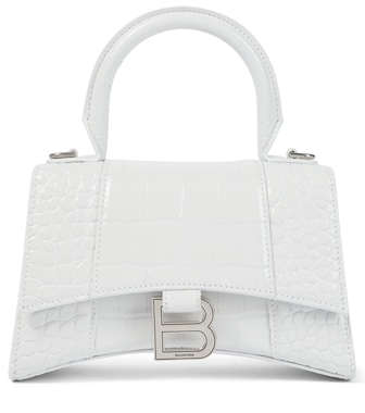 Balenciaga - Hourglass XS leather tote - mytheresa.com