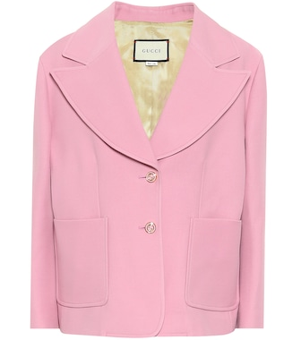 Gucci - Silk and wool cady blazer - mytheresa.com