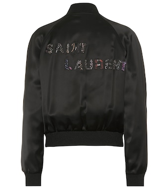 Saint Laurent - Satin bomber jacket - mytheresa.com
