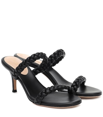 Gianvito Rossi - Marley 70 braided leather sandals - mytheresa.com
