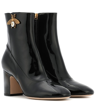 Gucci - Patent leather ankle boots - mytheresa.com