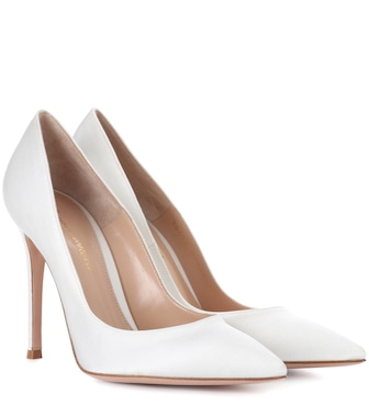 Gianvito Rossi - Gianvito 105 silk-satin pumps - mytheresa.com