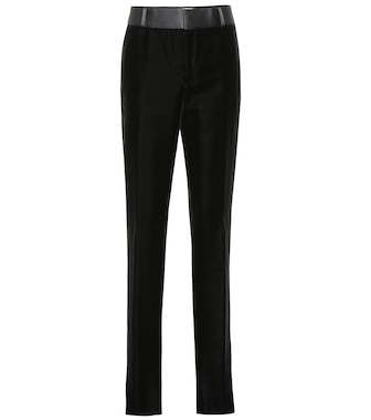 Saint Laurent - Velvet pants - mytheresa.com