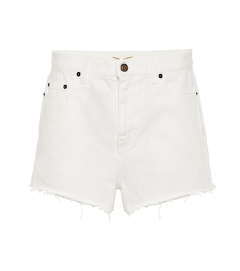 Saint Laurent - High-rise enim shorts - mytheresa.com