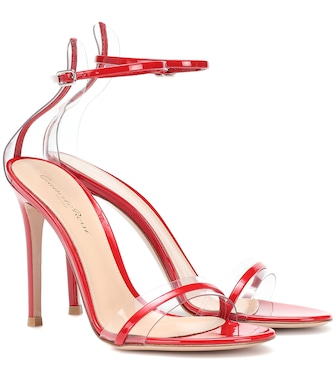 Gianvito Rossi - G-string patent leather sandals - mytheresa.com