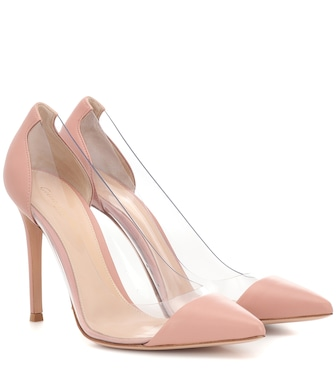 Gianvito Rossi - Plexi leather and transparent pumps - mytheresa.com