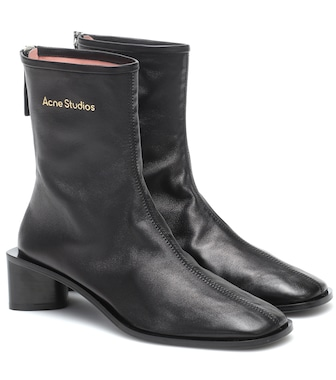 Acne Studios - Leather ankle boots - mytheresa.com