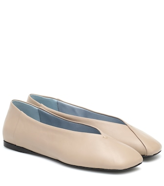 Max Mara - Faith leather ballet flats - mytheresa.com