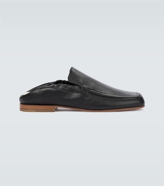 LOEWE - Pull tab leather loafers - mytheresa.com