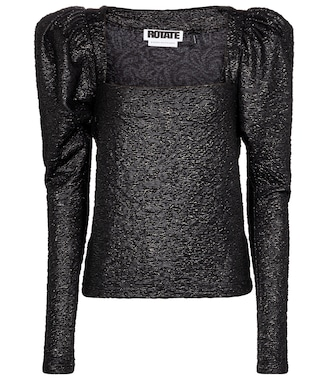 ROTATE BIRGER CHRISTENSEN - Stevie metallic top - mytheresa.com