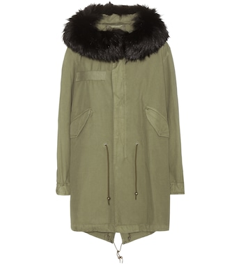 Mr & Mrs Italy - Xquili cotton parka with fur-trimmed hood - mytheresa.com