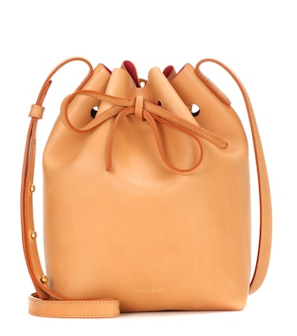 Mansur Gavriel - Mini Bucket leather crossbody bag - mytheresa.com