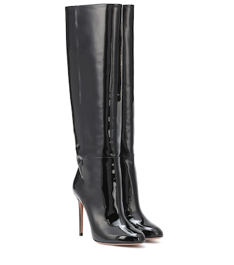 Aquazzura - Brera 105 leather knee-high boots - mytheresa.com