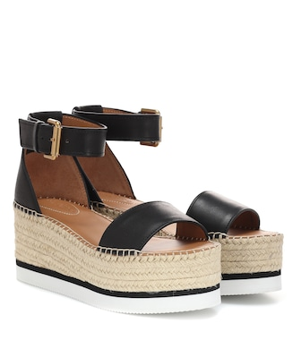 See By Chloé - Glyn leather platform espadrille sandals - mytheresa.com