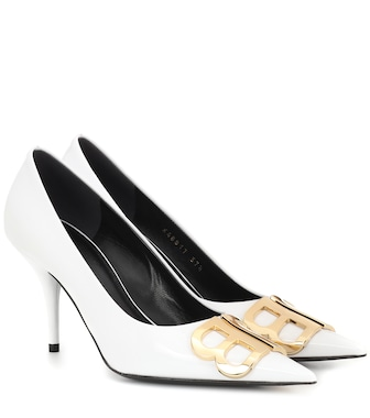 Balenciaga - BB patent leather pumps - mytheresa.com