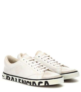 Balenciaga - Match leather sneakers - mytheresa.com